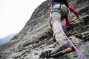 This climbing shoe is taking on the Matterhorn.