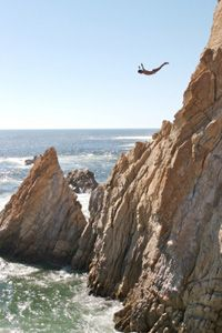 The La Quebrada cliff divers jump from heights of 147 feet.
