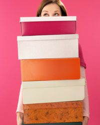 Keep those shoe boxes! Repurpose them for holding small items and organizing drawers.
