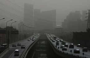 That's not fog: It's smog -- evidence that the air is becoming ever more polluted with greenhouse gases.