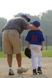 A dad's wisdom can come in handy on the field. See more sport pictures.