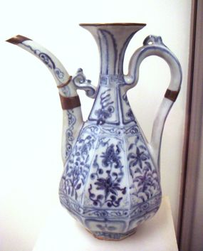 A Chinese vase made with cobalt from the early 1300s.