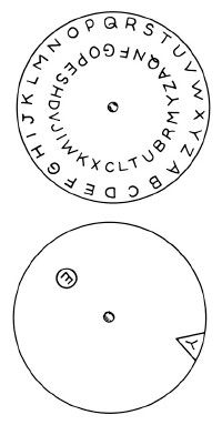 Use a code wheel to send secret messages.