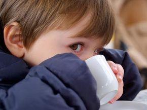 Little kid drinking