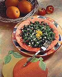 Smoky kale chiffonade makes a delicious side dish.
