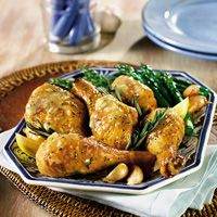 Chicken is ideal for a quick and delicious meal, like this tasty Greek chicken dish.