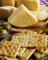 Sometimes all you need for a party is cheese and crackers.
