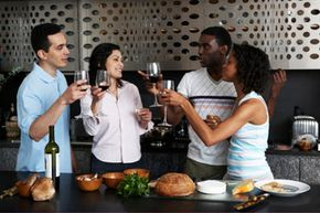 A cooking party is a great opportunity to get together with friends.