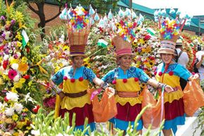 The Medellin Flower Fair is colorful, flower-y and a great place to scope out some  Colombian traditions.