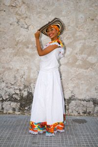 Men aren't the only ones who rock traditional sombreros in Colombia.