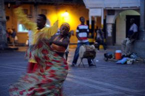 Folks dances are a vibrant aspect of traditional Colombian culture.