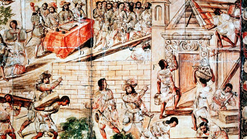 Aztec slaves, Mexico City
