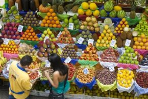Fruits and vegetables get their vibrant colors from natural pigments.