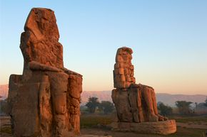 Centuries ago, people thought that the high-pitched noise emanating from the Colossi was the sound of a mother, Eos, crying for her son, Memnon.