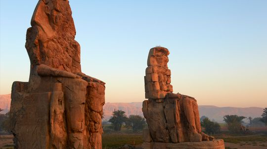 Did the Colossi of Memnon used to sing at sunrise?