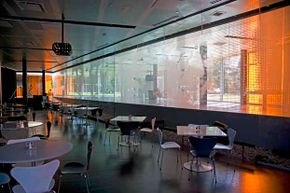 Check out the trendy dining area at the Illinois Institute of Technology.