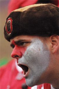If you want to brave the Ohio State campus on game day, go ahead. But be prepared to run into guys like this.
