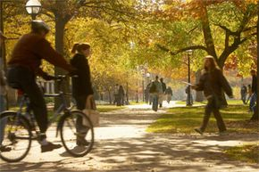 Before you go wandering around campus on your own, take the time to arrange a tour, an interview -- whatever the college can offer prospective students.