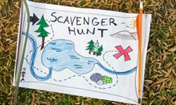 Make your treasure hunt with a silly map and rhyming clues.