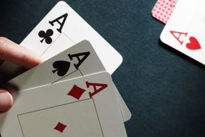 """The phrase """"palm off"""" came from deception while playing cards."""