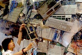 E-waste often ends up in African and Asian countries, including China.