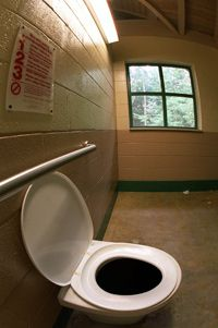 This composting toilet cost $13,000, but self-contained models are about $750-$1,500. See more green living pictures.