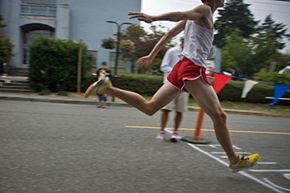 The Rodeo 10K attracts some very fast runners who often approach course record speeds.