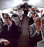 The Concorde's cabin