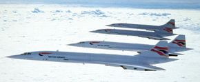 Concorde supersonic passenger jets. See more Concorde pictures.