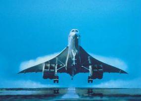 A Concorde landing