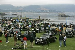 Classic Cars Image Gallery Historic automobiles fill the 18th fairway of the Pebble Beach Golf Links during the Pebble Beach Concours d'Elegance in Pebble Beach, Calif. See more pictures of classic cars.