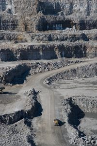 The mining of limestone, a key ingredient in cement, can disrupt the habitats living in the area.