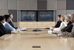 Many people can participate in online or video conferences.