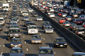 Congestion pricing helps avoid peak-hour slowdowns like that pictured above.
