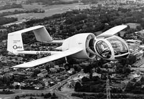 With its helicopterlike cockpit, the Edgley Optica gained worldwide attention upon its first flight in 1979. Unfortunately, the plane seemed to be cursed, suffering crashes, business failures, arson and other mishaps. Only a handful were made.