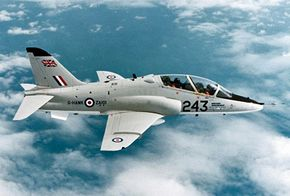 In modern times aircraft had longer lives than companies: what began as the Hawker Siddeley Hawk in 1974 became a British Aerospace Hawk and then a McDonnell Douglas (now Boeing) T-45A Goshawk. This plane is still used for training and as attack aircraft. See more pictures of flight.
