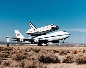 Boeing engineers had never envisaged the 747 as part of a composite aircraft, intended to let the Space Shuttle Enterprise be launched for glide flights to the ground. The first approach and landing test was in 1977.