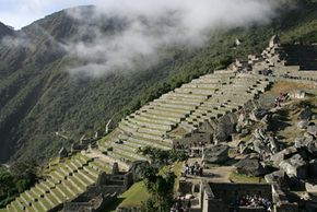 Machu Picchu, the Inca citadel, shortly after it was named one of the new Seven Wonders of the World in June 2007.