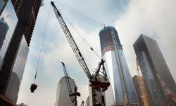 The towers rise rapidly at Ground Zero as  the new World Trade Center is rebuilt.  Like every other construction project, this is overseen by a project manager.