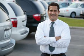 An automotive rating system helps you to do your homework before you face this guy on the car lot.