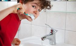 Turning off the water while you're brushing your teeth can save gallons of water.