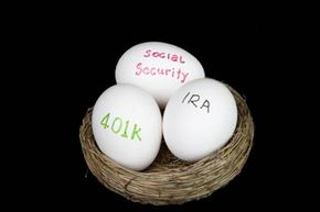Should you put all your retirement eggs in one basket? See more  money pictures.