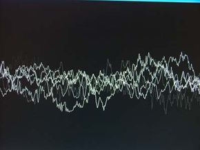 The software matches fingerprints that represent a sound's waves to try to get a match.