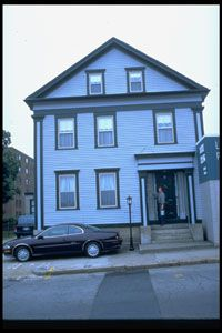 Exterior view of house where Lizzie Borden axe murders took place