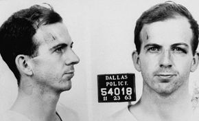 Police file photograph of Lee Harvey Oswald