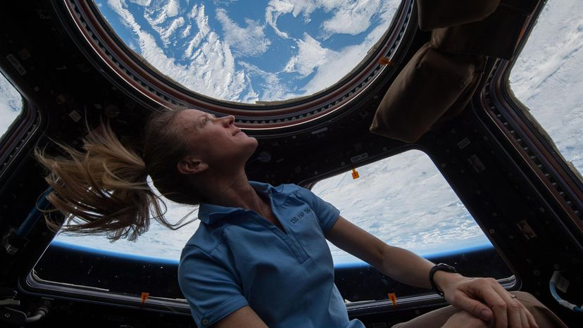 Karen Nyberg in Cupola of the International Space Station