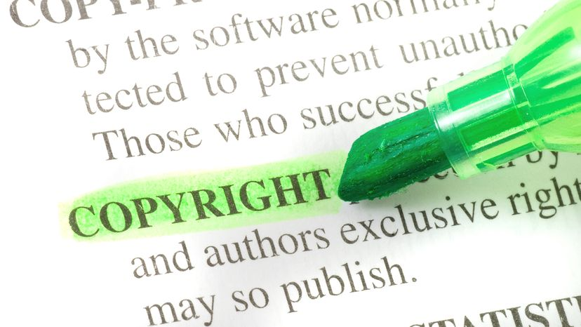 Copyright Definition Highlighted in Green