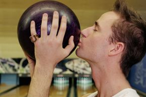 Superstitions take all forms in sports, like smooching your bowling ball.