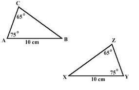 corresponding angles in triangles