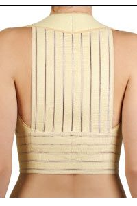 This medical corset is worn to correct posture.